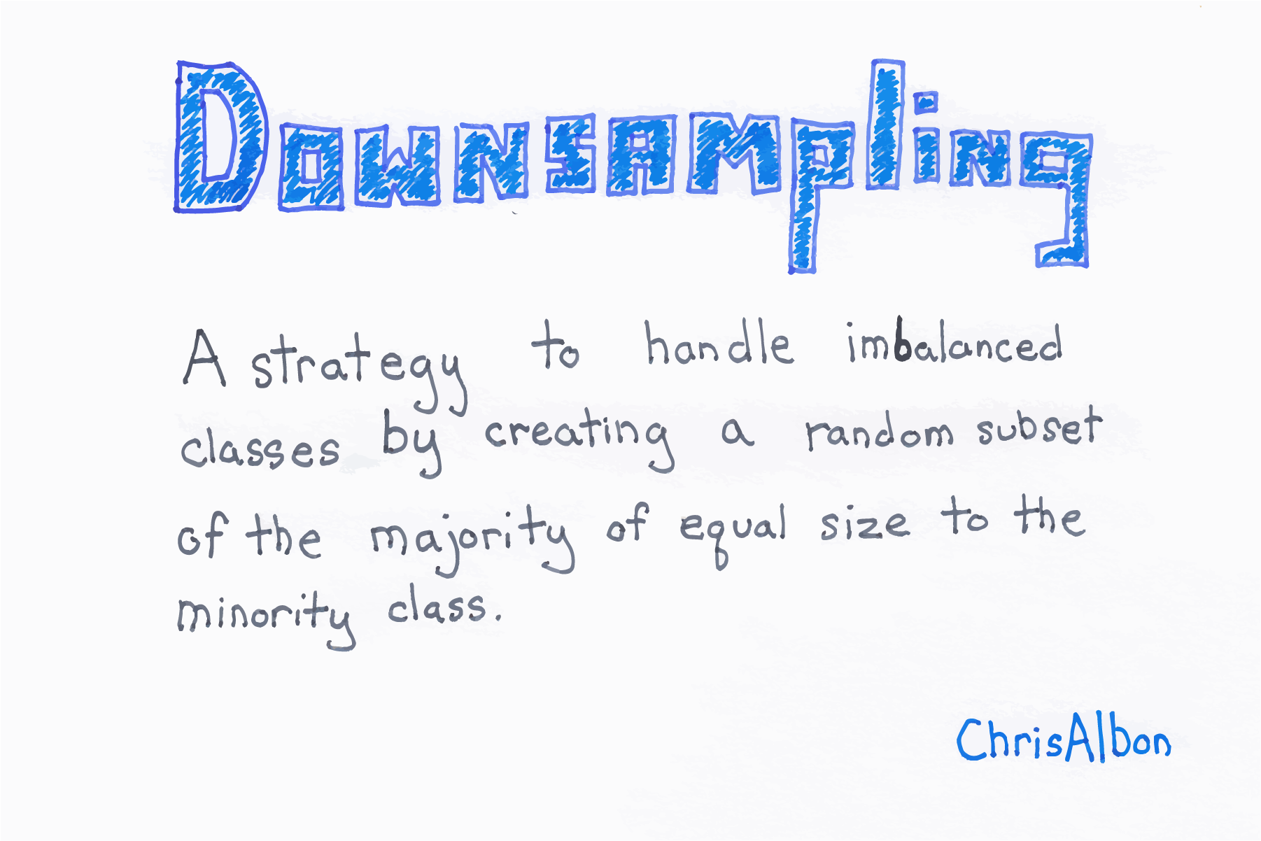 Handling Imbalanced Classes With Downsampling